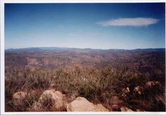 View north,ridge after ridge....