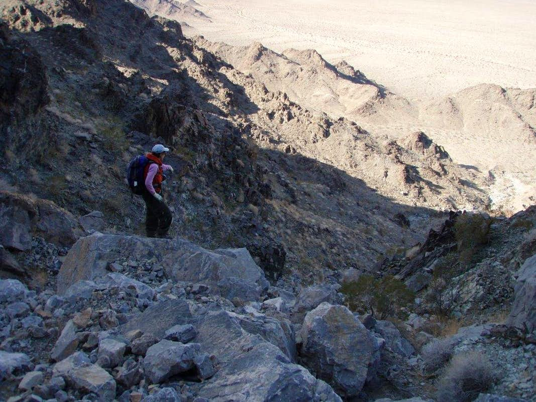 Lower Gully, Eastern Descent Route
