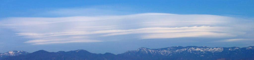 Lenticular Clouds over the southern Great Western Divide