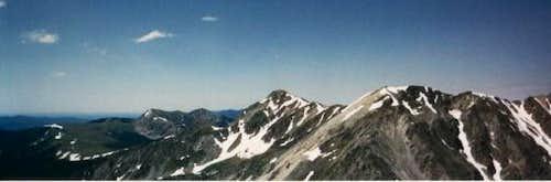Truchas Peak (center) and...