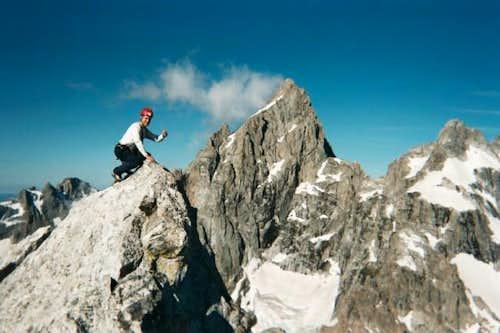 On the summit of Teewinot...