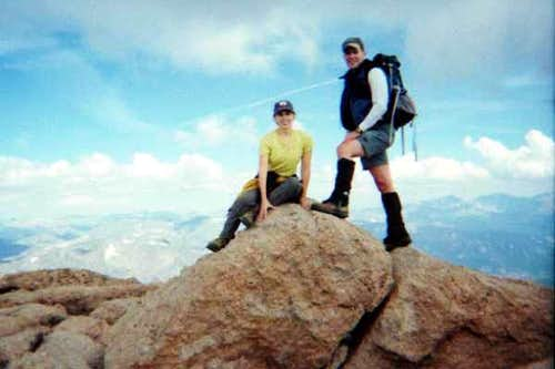 The summit of Long\'s Peak....