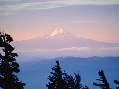 Mt. Hood from the south slope...