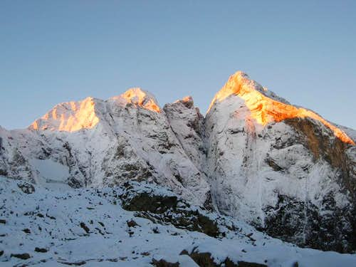 North face of Pique Longue at dawn