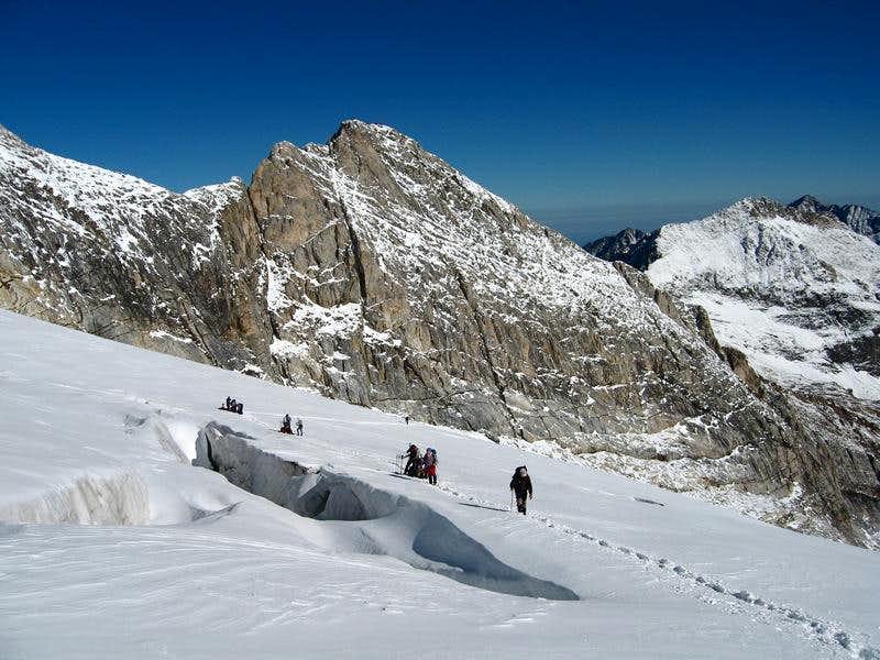 Petit Vignemale seen from glacier d'Ossoue