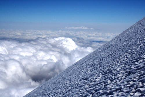 Classic shot of Jamapa Glacier close to the crater rim