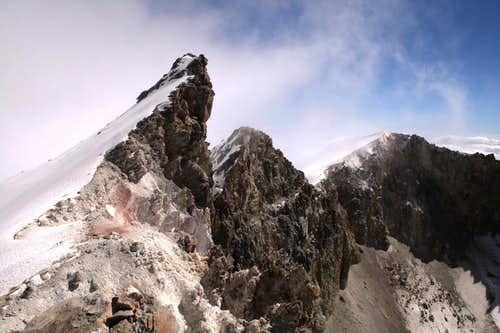 Ice Needle and the crater rim