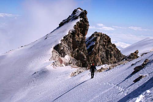 Traversing the crater rim