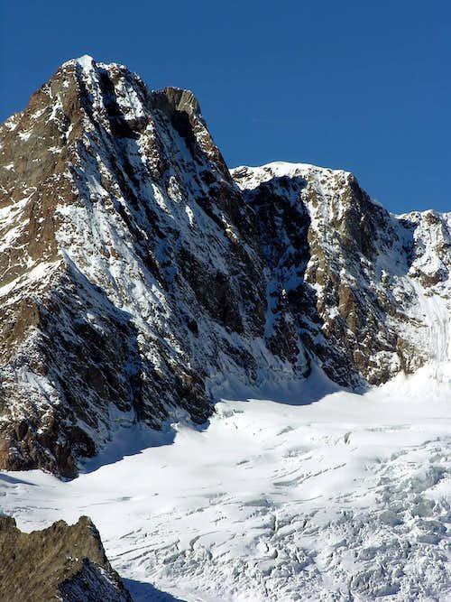 Il versante nord est dell'aiguille des Glacier (3816 m)