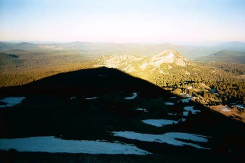 Sunset shadow of Lassen...