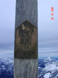 Close up of the Summit Cross