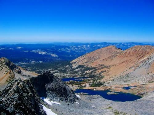 Ottoway Lakes from the summit...