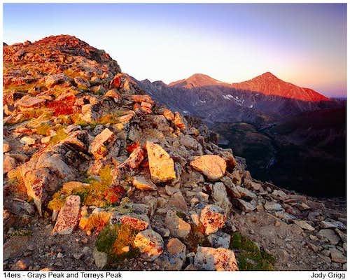 Grays and Torreys Peaks, Colorado