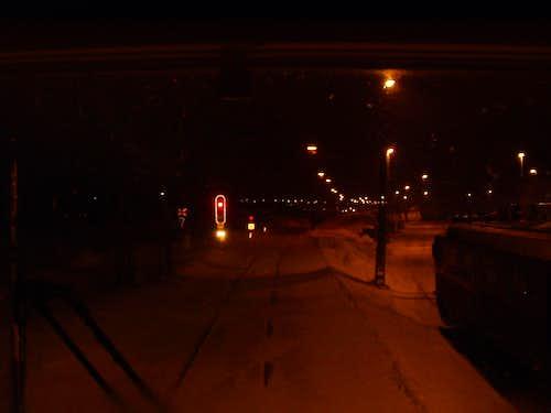 Pulling into Kiruna