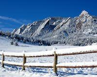 Snow Covered Flatirons