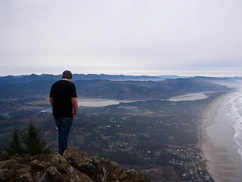 My son on the summit