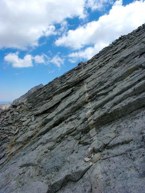 Typical Class 3 slab climbing...