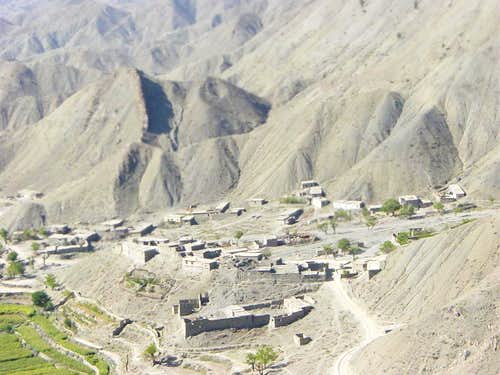 Typical Afghan Village from the Air