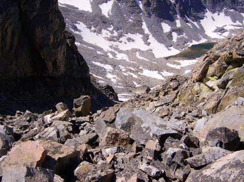 South Face Scree chute
