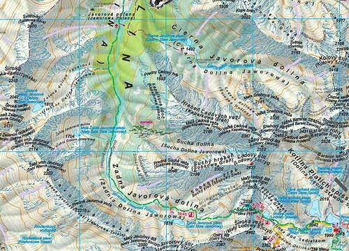 Ladovy Stit area - Map