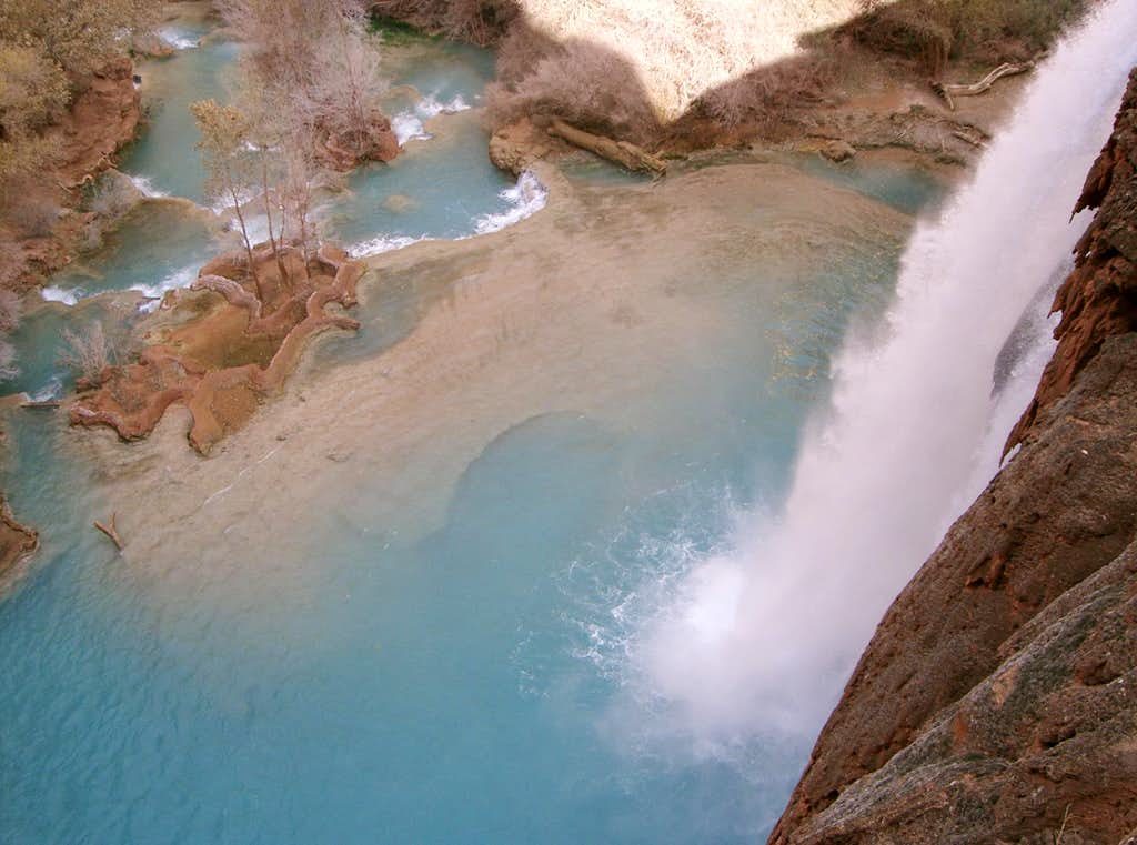 From the Top of Havasu Falls