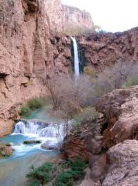 Looking Back at Mooney Falls