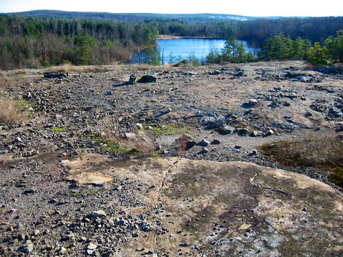 Looking down from Arabia Mountain into Arabia Reservoir