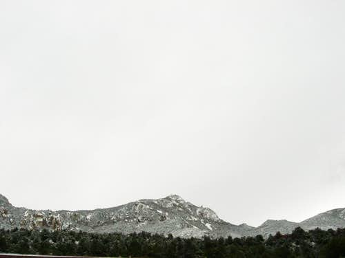 Emory Peak Covered in Snow