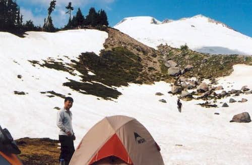 Easton Glacier route seen...