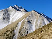 Boundary Peak from the ridge beyond Trail Canyon Saddle