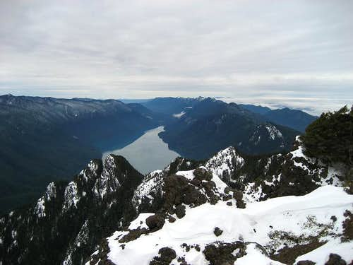 Lake Crescent fr summit