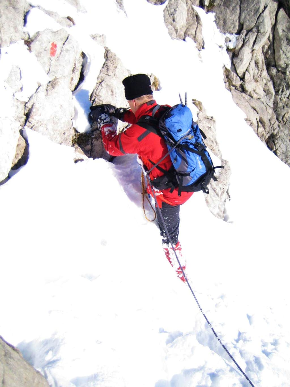 Winter ascent via ferrata Hindelang
