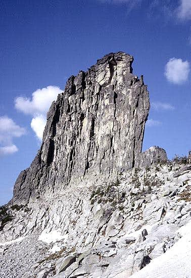 Chimney Rock form the west.