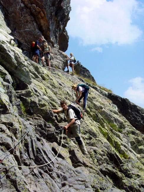 Descent of Paso de la sirga...