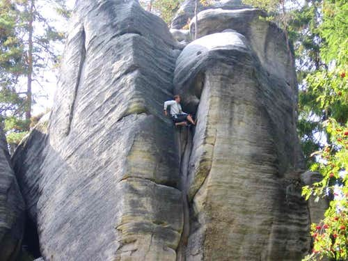 Czech climber in Adrspach