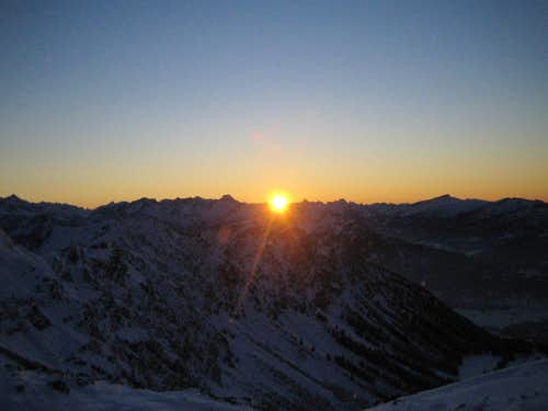 Sunset in the Allgaeuer Alps