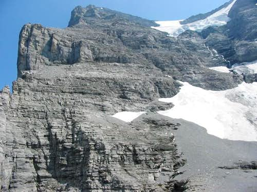 Eiger west-face seen from...