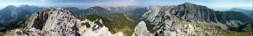 Full 360 deg panorama from Kosutica / Loibler Baba