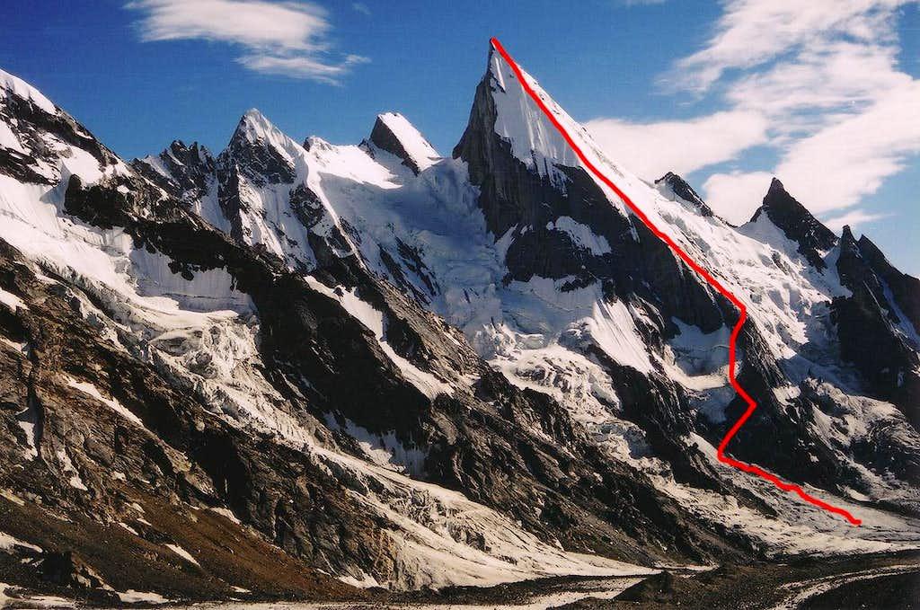 Italian Route on Lalia Peak