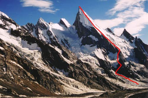 Italian Route on Lalia Peak