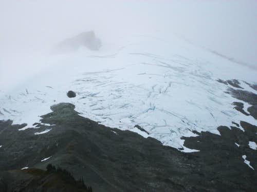 Crevasses on Ruth in October