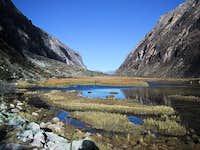 Approach: Beautiful lake on...