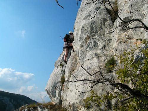 Climbing on Orlia Basta