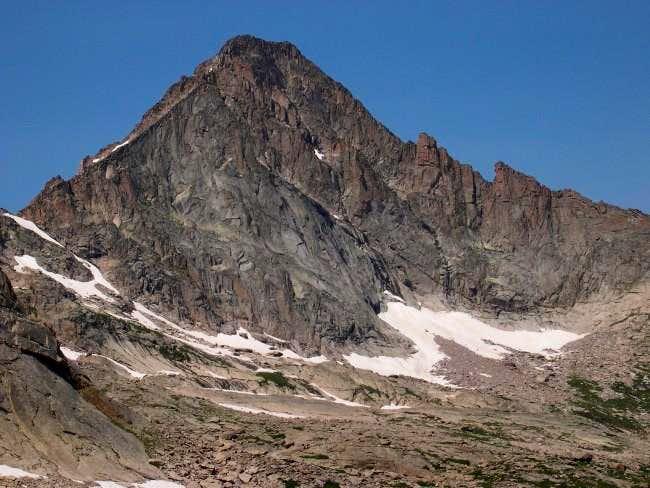 From upper Glacier Gorge,...