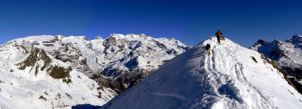 Italian side of Monte Rosa