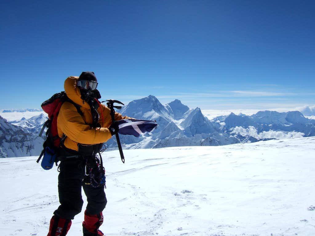 Cho Oyu Summit (Everest behind)