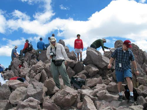 Part of the crowd atop Lassen