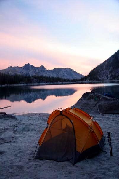 Camping at south end of Colchuck Lake