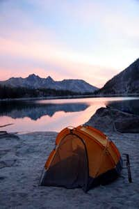 Camping at south end of Colchuck Lake