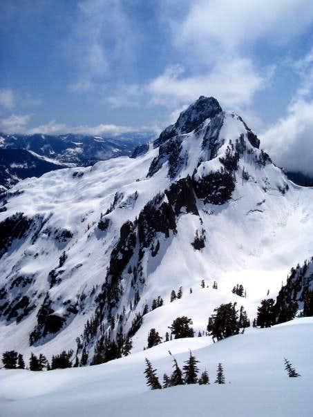 Ski summit view